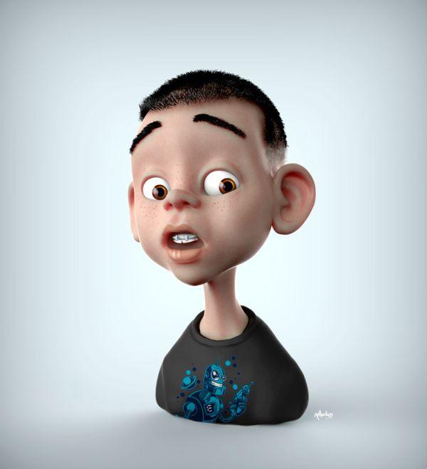 3D Boy Cartoon Character #3D #boy #character #child
