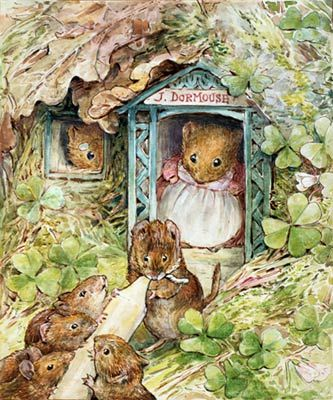 John Dormouse's Shop Mural - Beatrix Potter| Murals Your Way