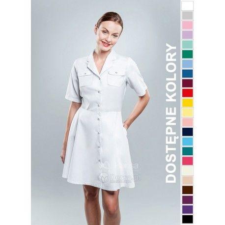 Sukienka Medyczna Hansa 0204   Odzież damska   Dla lekarzy, farmaceutek i pielęgniarek.   Sklep internetowy Dersa  