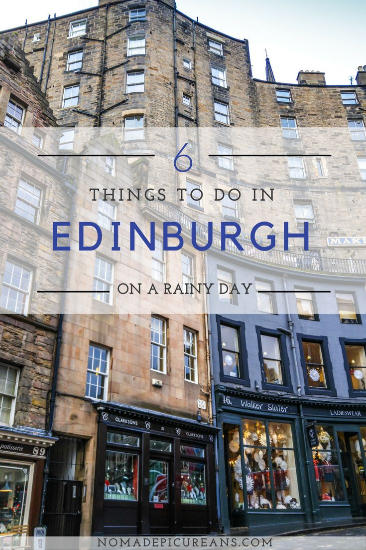 Are you travelling to Edinburgh, Scotland soon? Chances are good it will rain at least one of the days you're there. Bookmark our handy guide of fun things to do on a rainy day in Edinburgh!