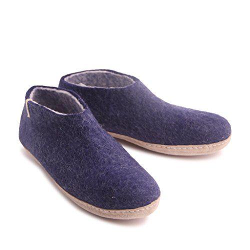 0c17bb0751c16 Blubi Egos House Slippers: 100 Natural Sheep Wool Handmade Slippers ...