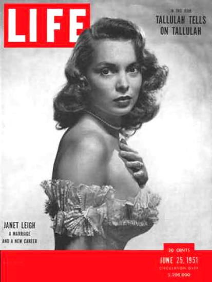 Life Magazine Cover Copyright 1951 Janet Leigh - Mad Men Art: The 1891-1970 Vintage Advertisement Art Collection