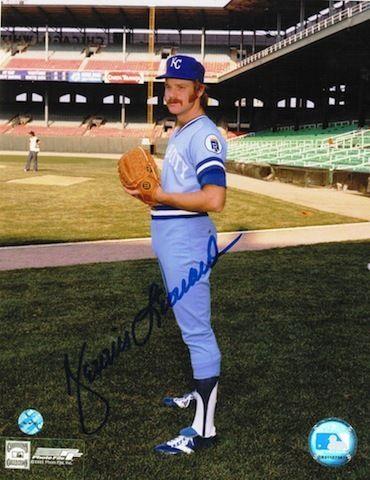 Autographed Dennis Leonard Kansas City Royals 8x10 Photo.