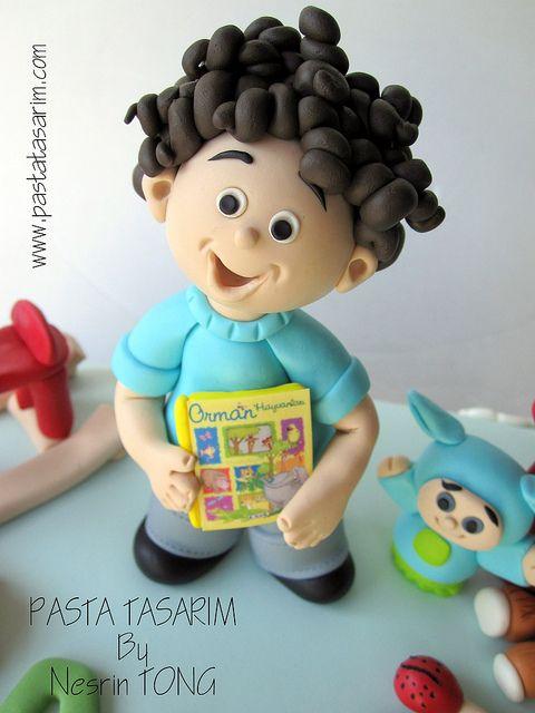 Niño buen pelo! porcelana fria polymer clay