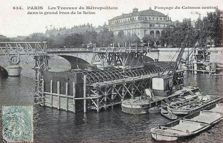 LA CONSTRUCTION DU METRO PARISIEN Metro paris, Paris et