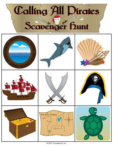 Calling All Pirates Scavenger Hunt