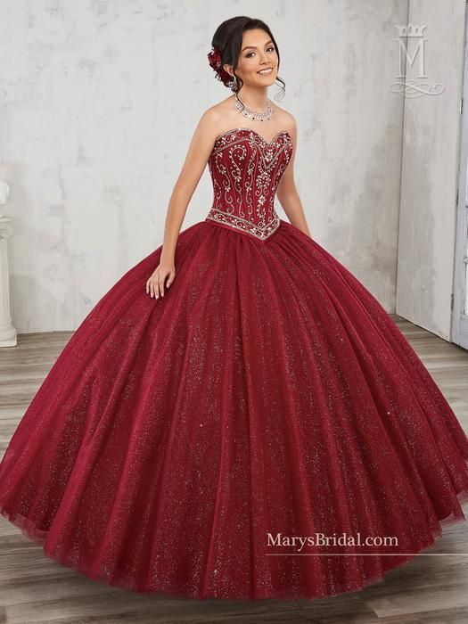 Mary's Quinceanera Red quinceanera dresses, Sweet 16