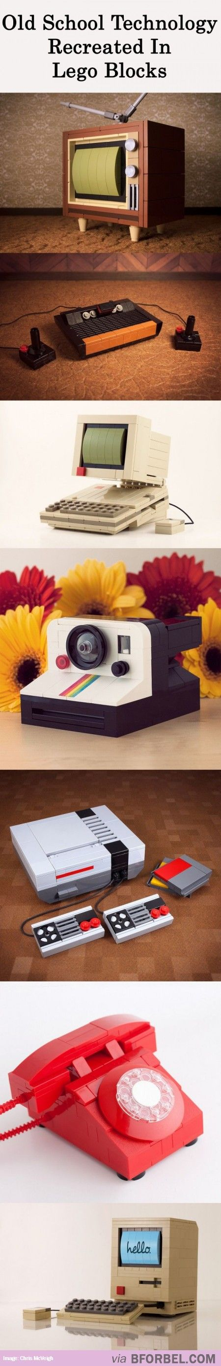 7 Old School Technology Recreated With Lego…