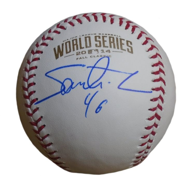 Santiago Casilla Autographed Rawlings 2014 World Series Official Game Baseball, Proof. Santiago Casilla Signed Rawlings 2014 World Series Official Game Baseball, San Francisco Giants, Proof   This is a brand-new Santiago Casilla autographed Rawlings 2014 World Series official league leather baseball. Santiago signed the baseball in blue ball point pen.Check out the photo of Santiago signing for us. ** Proof photo is included for free with purchase. Please click on images to enlarge. Please…