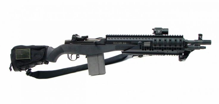 Springfield Socom II .308 caliber rifle. Socom II with Vltor Quad rail made for this single action model.