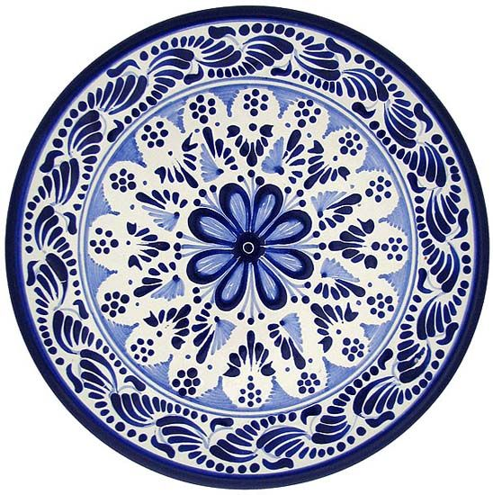 Talavera Pottery place settings.  I have a similar  pattern, and absolutely love the dishes and bowls.