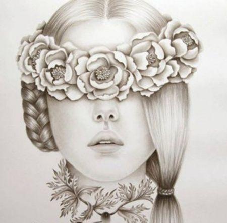 abstract pencil drawing