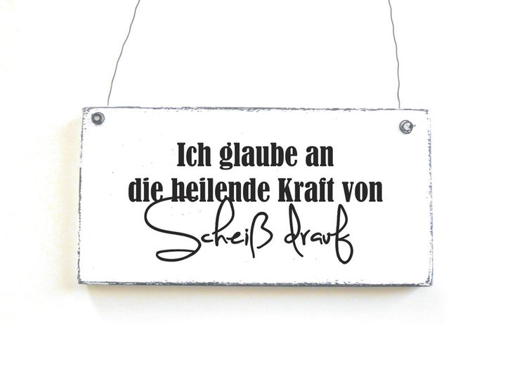 Dekoschild SCHEIß DRAUF Türschild Vintage von DÖRPKIND auf www.doerpkind.de