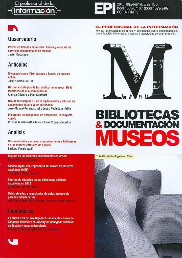 COMUNICACIÓN E INFORMACIÓN (El profesional de la información : vol. 22, n° 3, mayo-junio / 2013)