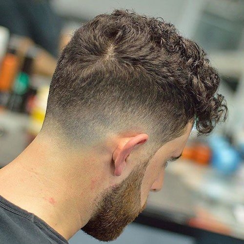 Drop Fade Haircut for Curly and Wavy Haircuts