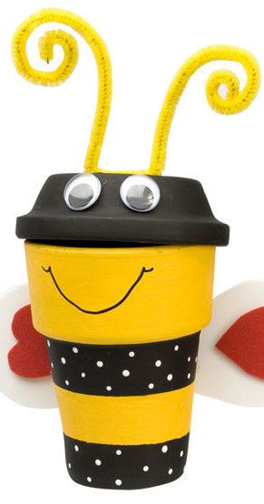 Styrofoam Cup Bee Craft For Kids