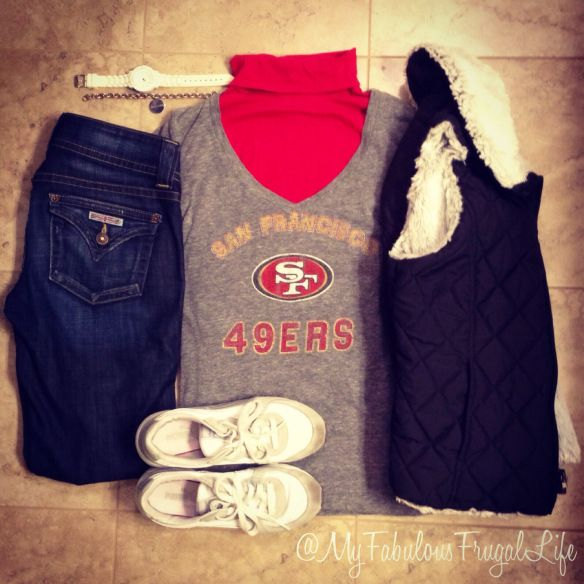 forty niners  ootd  49ers outfit  sf niners  outfit layout