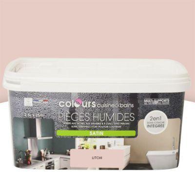 Peinture multi-supports cuisine et salle de bains Colours litchi satin 2,5L | Castorama, Salle ...