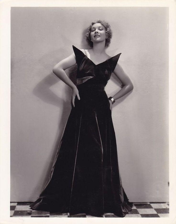 HELEN TWELVETREES Original Vintage 1935 FREULICH DBW Fashion Portrait Photo