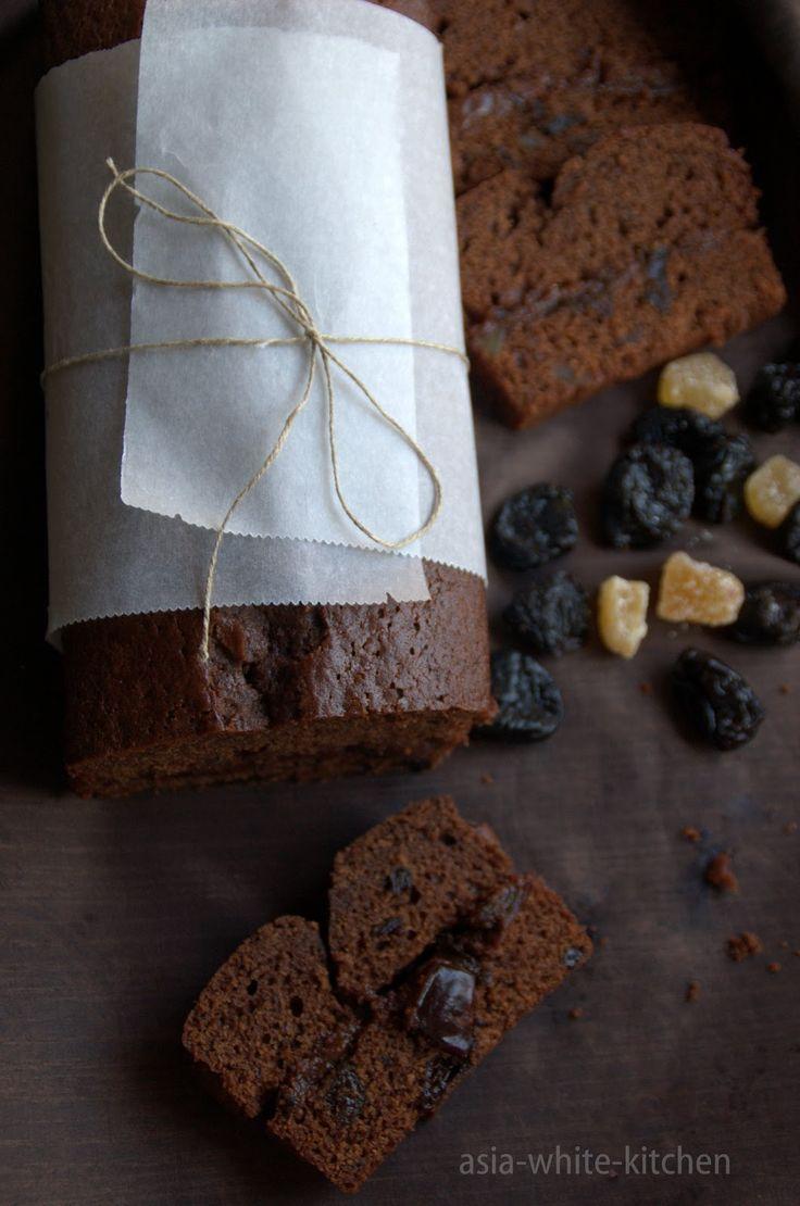 Słodkie cuda: Piernik czekoladowy z nutellą z suszoną śliwką i imbirem