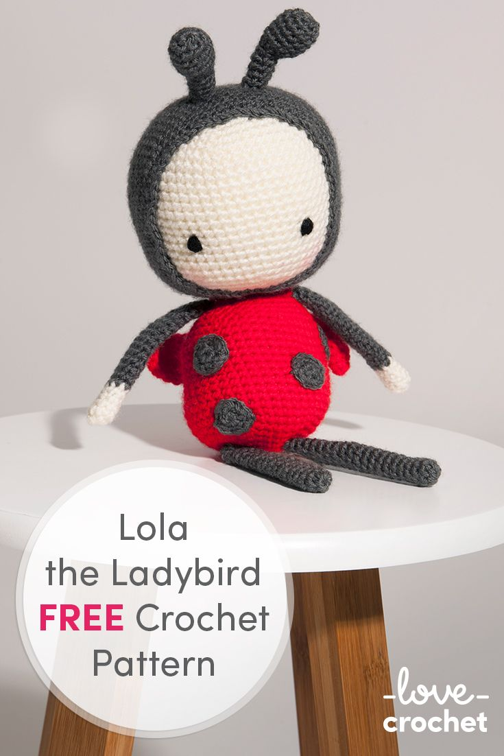 175 best free crochet patterns images on pinterest yarn needle crochet the adorable lola the ladybird with this free pattern download now at lovecrochet bankloansurffo Choice Image