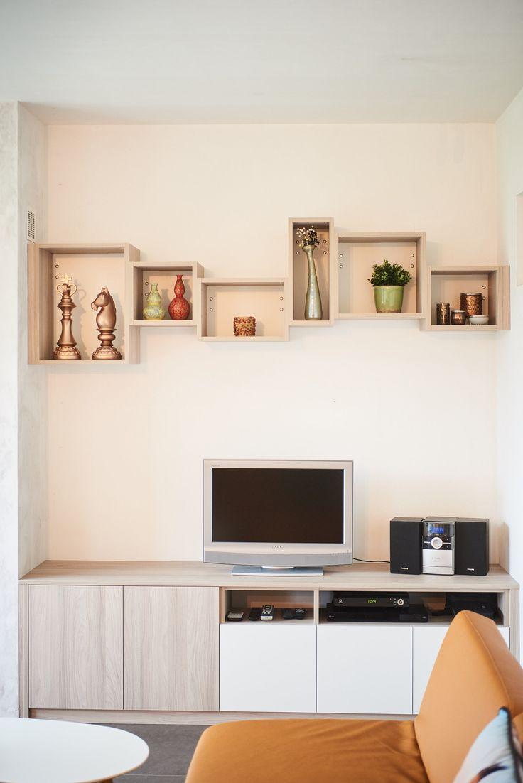 Meuble salon sur mesure - Salonmeubel op maat - Custom made TV cupboard living room