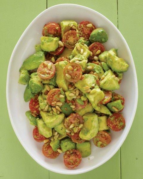 Avocado, Cherry Tomato, Pine Nut, Lime Vinaigrette Salad   ShockinglyDelicious.com