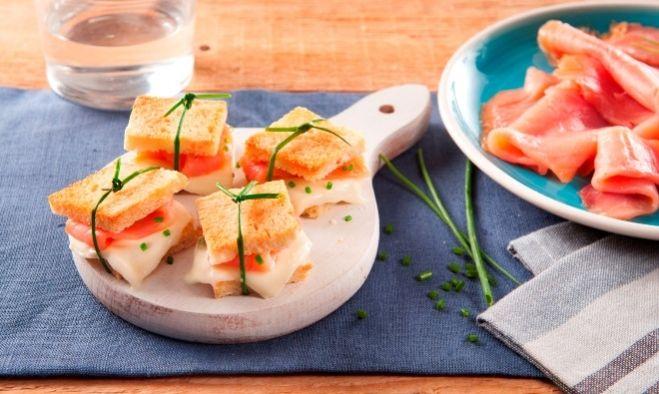 Recette Mini-croques saumon Mozzarella