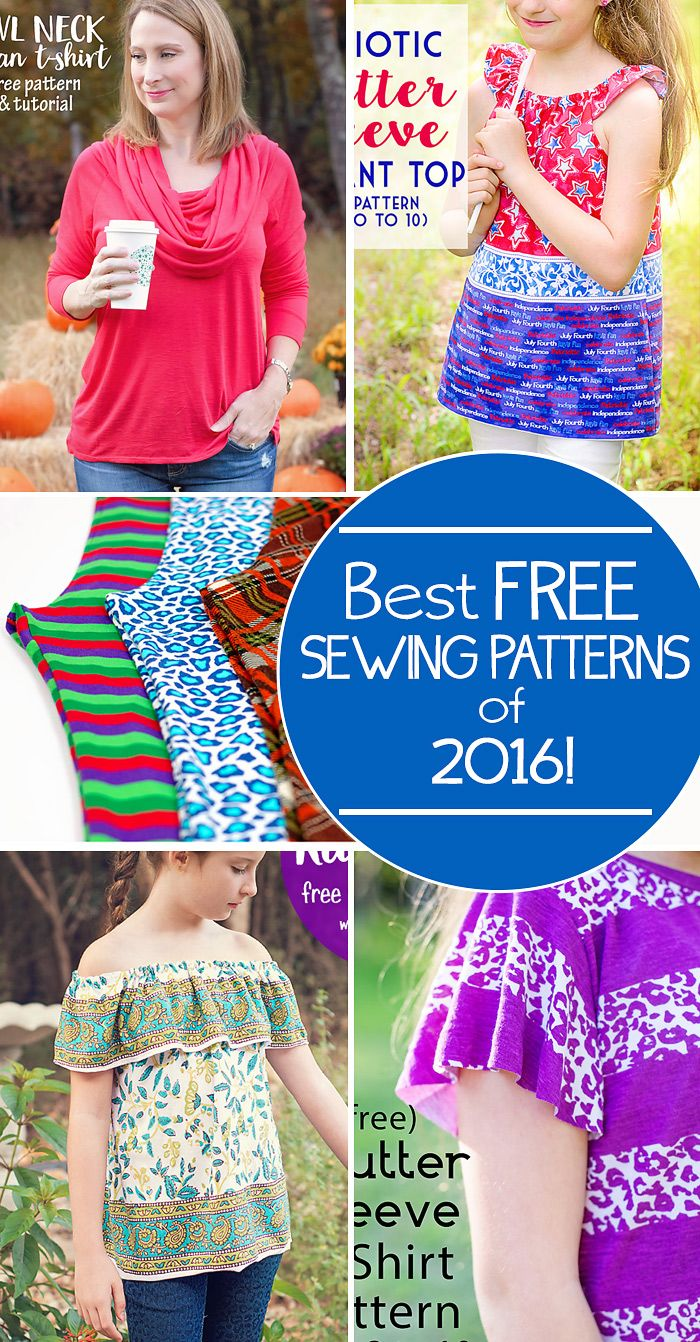 Best Free Sewing Patterns of 2016 from Scattered Thoughts of a Crafty Mom