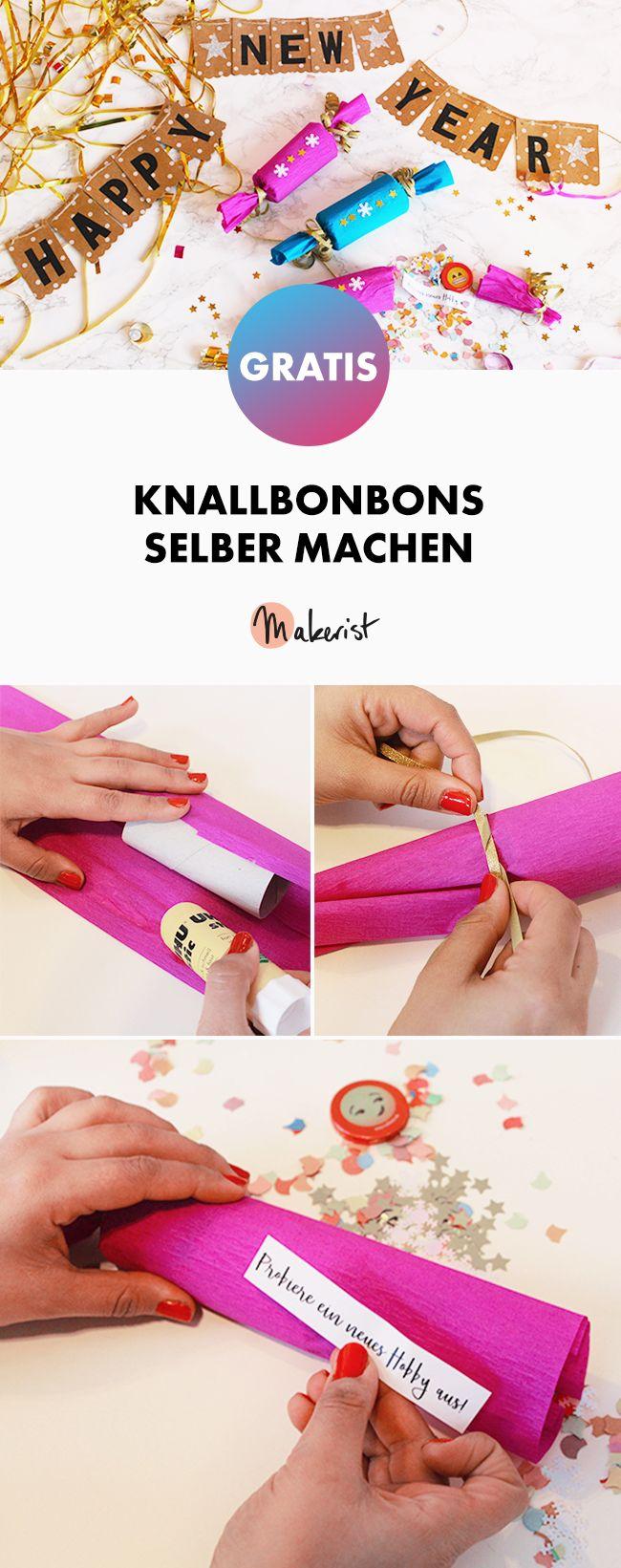 Für Silvester: Knallbonbons selber machen - kostenlose DIY-Anleitung via Makerist.de