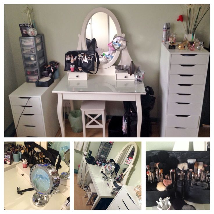 My new and updated vanity. IKEA Hemnes dressing table with Alex drawers