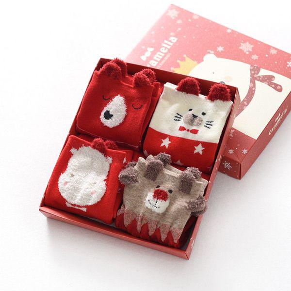 Г-жа хлопчатобумажные носки в трубке Рождественские чулки женский осень зима носки хлопок дамы хлопок носки зима Т
