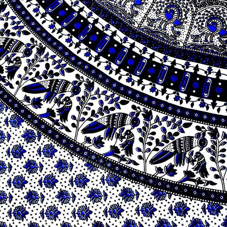 Blue Bird Mandala Throw From Www Bohoboutique