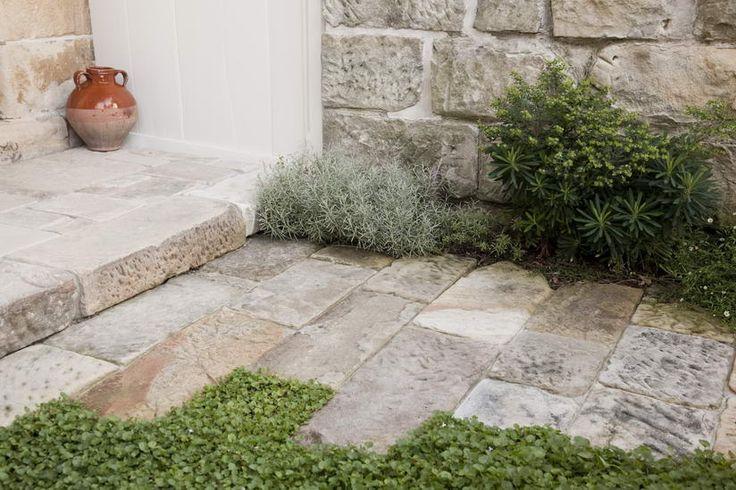 rock paved garden
