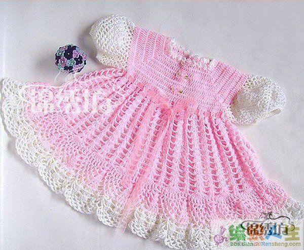 Robes multicolores et leurs grilles gratuites ! - Modèles pour Bébé au Crochet