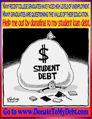 STUDENT LOAN ,DONATE, DEBT