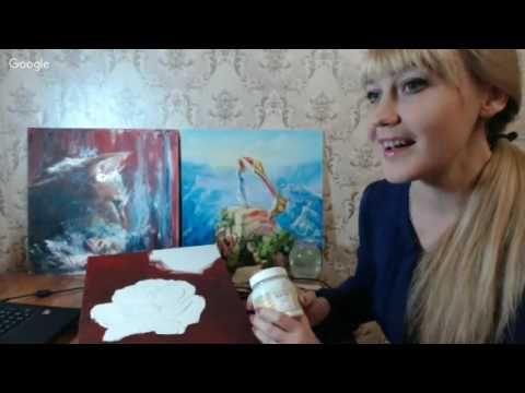 Екатерина Захваткина. Интерьерная картина с позолотой и объемными элементами «Маки».