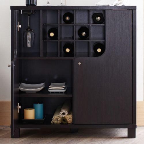 Home Wine Cabinet Bar Buffet Storage Rack Pub