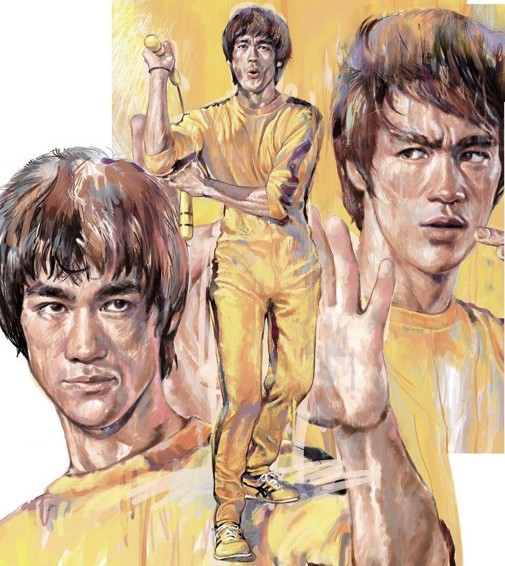 Bruce Lee art by Milton Wong