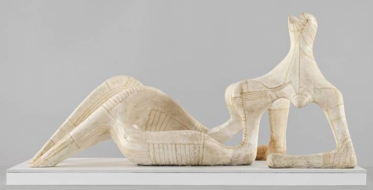Henry Moore, Reclining Figure, plaster and string, 1951.