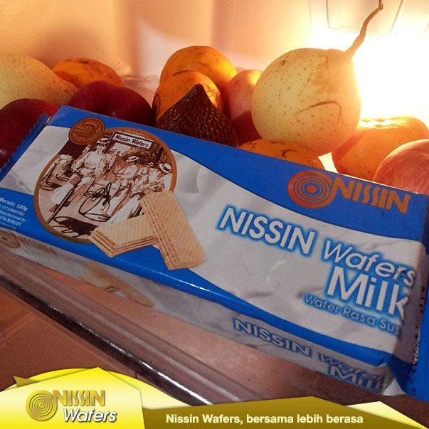 Nissin Wafers bersembunyi di lemari pendingin :)