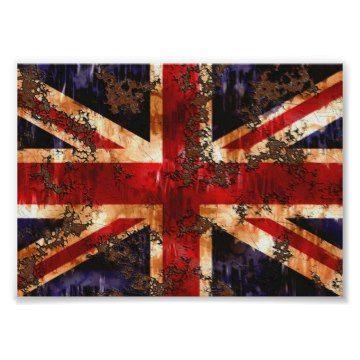 De geroeste Vlag van Union Jack van het UK - het Verenigd Koninkrijk. Een de patriottische vlag rood, wit, blauw oud en geroest ontwerp van het Verenigd Koninkrijk.