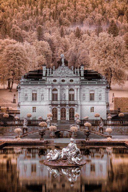 . Schloss Linderhof Castle - Ettal, #Germany.