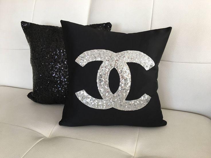 Set Of 2 Chanel Pillow Pillow Cover Sequins Pillow