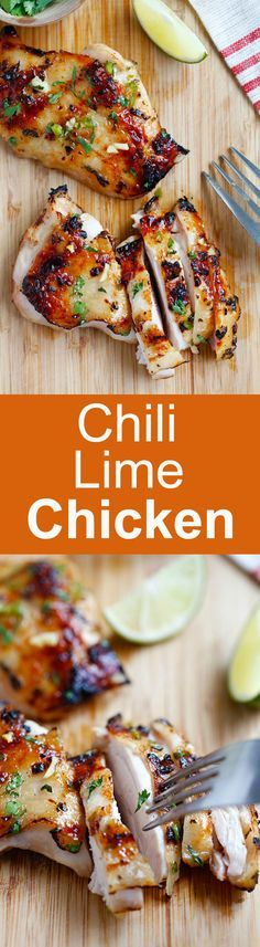 Chili lime chicken – moist and delicious chicken marinated with chili and lime and grill to perfection. Easy recipe that takes 30 mins | http://rasamalaysia.com