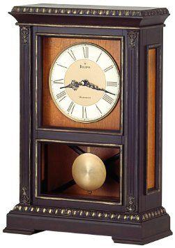 Bulova Whitmore Chocolate brown Mantel Clock - B7650