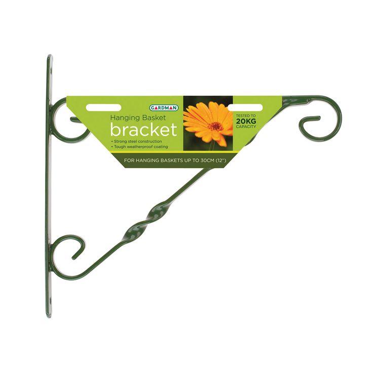 "Gardman Hanging Basket Bracket Green 14""-16"" (355mm/405mm) #SummerLovin"