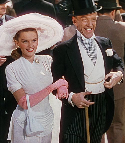 Judy Garland and Fred Astaire, Easter Parade (1948). I have always loved Judy's finale dress! #topvintage