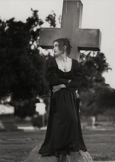madonna  Madonna LikeAPrayer cemetery series by Herb Ritts 1989.