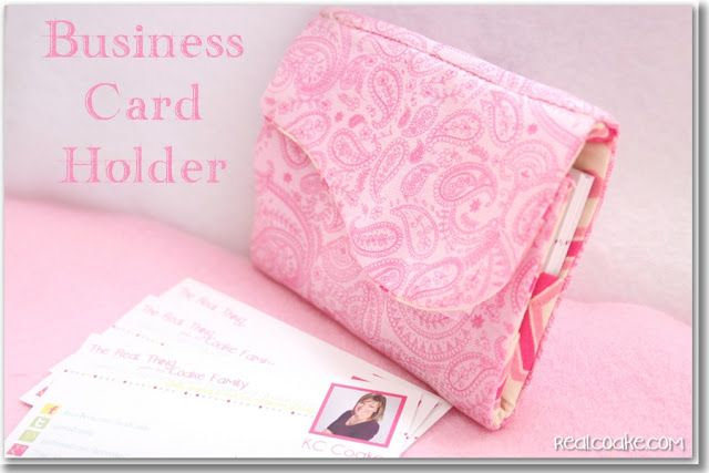 Recently, I made myself and this blog feel all official. I designed and ordered business cards. Then I made myself a business card holder. I was headed to a blog conference and knew that there would be plenty of networking and need for business cards. I also knew that I wanted something cute and pink …